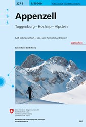 Swisstopo 1 : 50 000 Appenzell Schneeschuh- und Skitourenkarte