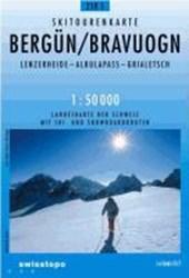 Swisstopo 1 : 50 000 Bergün Bravuogn Ski