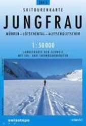 Swisstopo 1 : 50 000 Jungfrau Skitourenkarte