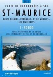 Swisstopo 1 : 50 000 St-Maurice Ski
