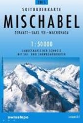 Swisstopo 1 : 50 000 Mischabel Skiroutenkarte