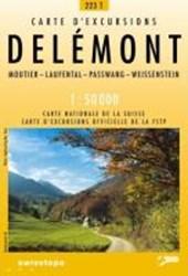 Swisstopo 1 : 50 000 Delémont