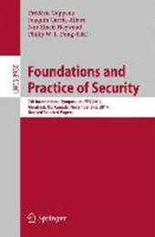 Foundations and Practice of Security