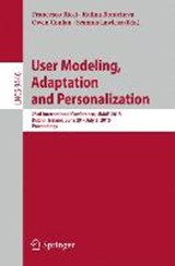 User Modeling, Adaptation and Personalization | auteur onbekend |
