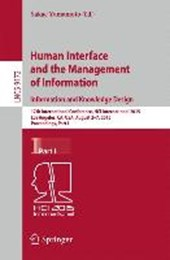 Human Interface and the Management of Information. Information and Knowledge Design