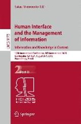 Human Interface and the Management of Information. Information and Knowledge in Context |  |