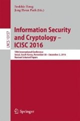 Information Security and Cryptology - ICISC | auteur onbekend |