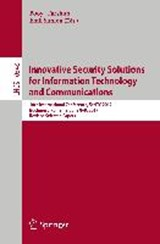 Innovative Security Solutions for Information Technology and Communications | auteur onbekend |
