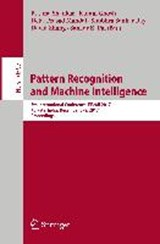 Pattern Recognition and Machine Intelligence | auteur onbekend |