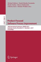 Product-Focused Software Process Improvement | auteur onbekend |