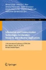 Information and Communication Technologies in Education, Research, and Industrial Applications | auteur onbekend |