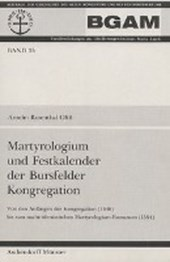 Martyrologium und Festkalender der Bursfelder Kongregation
