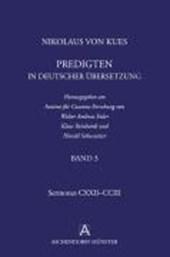 Nikolaus von Kues: Predigten in deutscher Übersetzung/ Band