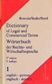 Wörterbuch der Rechts- und Wirtschaftssprache 1. Englisch - Deutsch