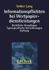 Informationspflichten bei Wertpapierdienstleistungen