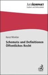 Schemata und Definitionen Öffentliches Recht