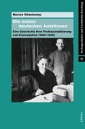 Die ersten deutschen Juristinnen