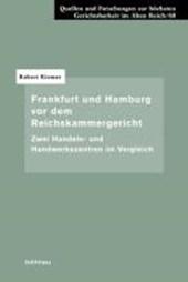 Frankfurt und Hamburg vor dem Reichskammergericht