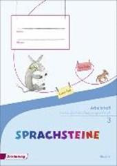 SPRACHSTEINE Sprachbuch 3. Arbeitsheft. Vereinfachte Ausgangsschrift VA. Bayern