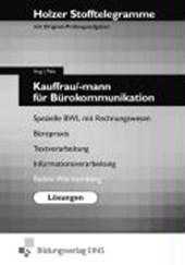 Stofftelegramm Kauffrau/-mann für Bürokommunikation. Lösunge. Badfen-Württemberg
