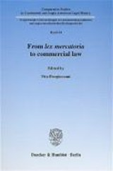 From lex mercatoria to commercial law | auteur onbekend |