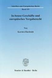 In-house-Geschäfte und europäisches Vergaberecht