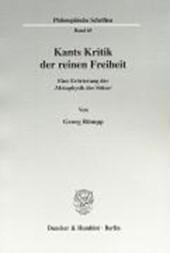 Kants Kritik der reinen Freiheit