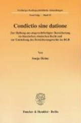 Condictio sine datione | Sonja Heine |