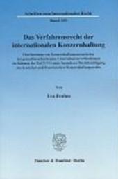 Das Verfahrensrecht der internationalen Konzernhaftung