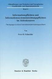 Informationspflichten und Informationssystemeinrichtungspflichten im Aktienkonzern
