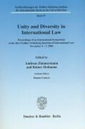 Unity and Diversity in International Law