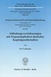 Abfindungsvereinbarungen mit Organmitgliedern deutscher Kapitalgesellschaften