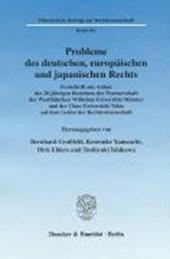 Probleme des deutschen, europäischen und japanischen Rechts