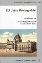 125 Jahre Reichsgericht
