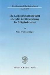 Die Gemeinschaftsaufsicht über die Rechtsprechung der Mitgliedstaaten