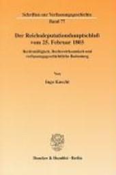 Der Reichsdeputationshauptschluß vom 25. Februar