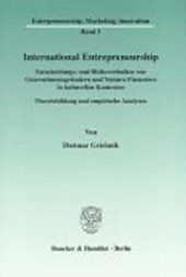 International Entrepreneurship | Dietmar Grichnik |