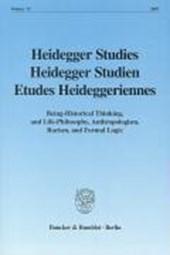 Heidegger Studies / Heidegger Studien / Etudes Heideggeriennes 23