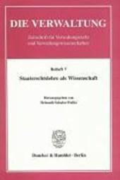Staatsrechtslehre als Wissenschaft