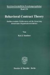 Behavioral Contract Theory