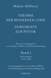 Theorie der modernen Lyrik. Dokumente zur Poetik