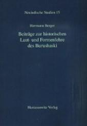 Beiträge zur historischen Laut- und Formenlehre des Burushaski