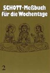 Schott Meßbuch für die Wochentage II. Kunstleder braun, Naturschnitt