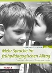 Mehr Sprache im frühpädagogischen Alltag