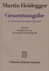Gesamtausgabe Abt. 2 Vorlesungen Bd. 20. Prolegomena zur Geschichte des Zeitbegriffs