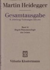 Gesamtausgabe Abt. 2 Vorlesungen Bd. 32. Hegels Phänomenologie des Geistes