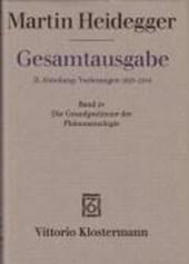 Gesamtausgabe Abt. 2 Vorlesungen Bd. 24. Die Grundprobleme der Phänomenologie