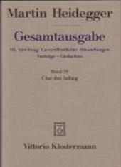 Gesamtausgabe Abt. 3 Unveröffentliche Abhandlungen Bd. 70. Über den Anfang (1941)