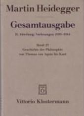 Heidegger Gesamtausgabe Bd. 23. Geschichte der Philosophie von Thomas von Aquin bis Kant