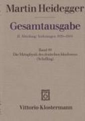 Heidegger Gesamtausgabe Bd. 49. Die Metaphysik des deutschen Idealismus